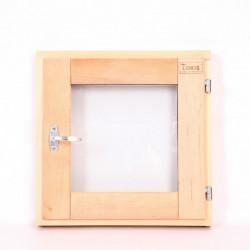Окно финское стеклопакет прозрачное 30 на 30 ольха