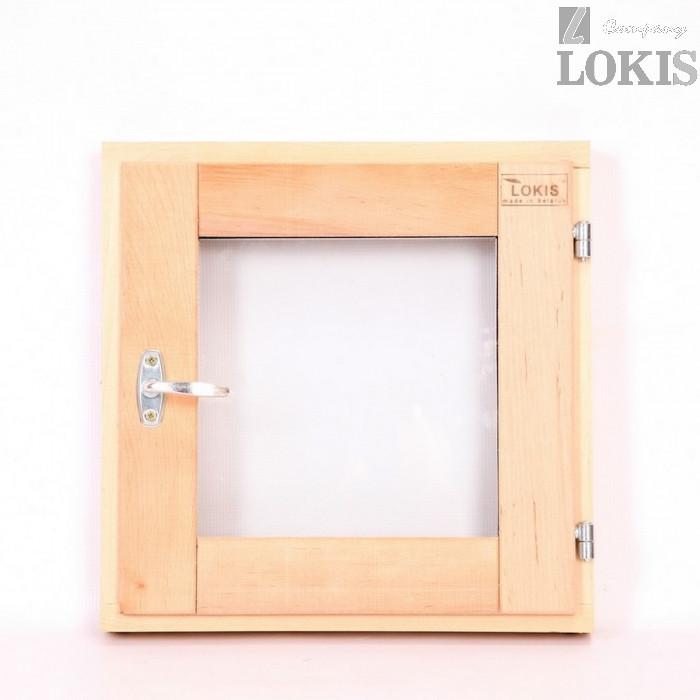 Окно финское стеклопакет прозрачное 50 на 50 ольха